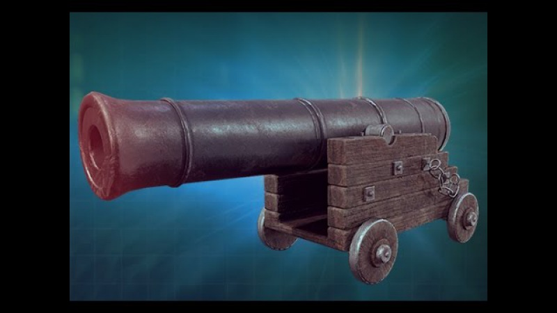 Cannon Asset Creation in Substance Painter 3dm Promo