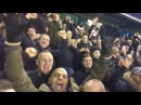 Fans celebrate Moros goal with denzil,Robbie Ryan and Ronnie bull!!