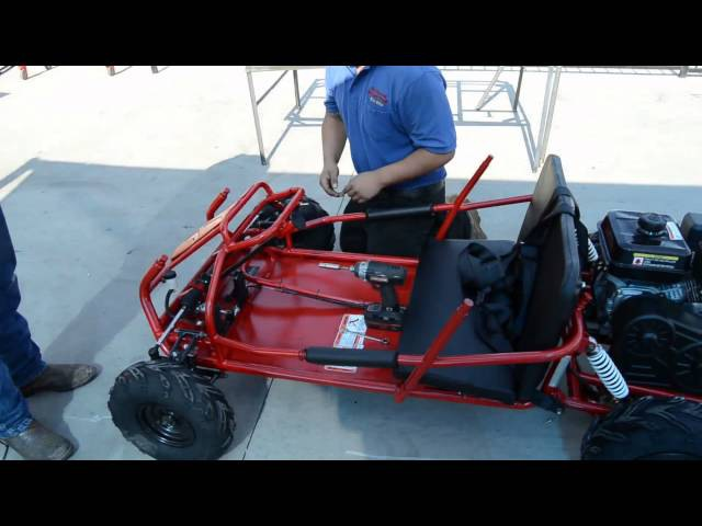 Assembling the Go Power Sports Mid Size Go Kart Kit