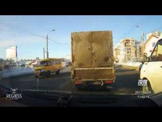 Наезд на пешехода, Омск (18.01.2017)