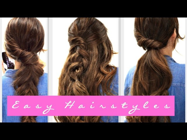 4 EASY Lazy HAIRSTYLES | Fall Hairstyle for Medium LONG HAIR