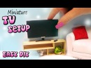 Easy Miniature/Doll TV, Remote Stand Tutorial DIY dollhouse