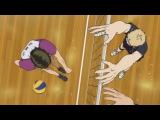 Haikyuu!! Season 3 Episode 4 - Tsukishimas block against Ushijima