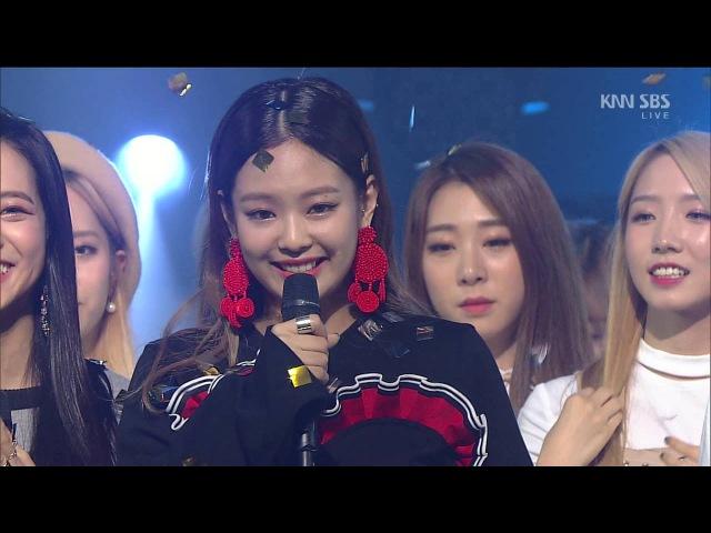 160911 인기가요 1위(Win) 블랙핑크(BLACKPINK) 〈휘파람(WHISTLE〉 @ Inkigayo 1080p 60fps