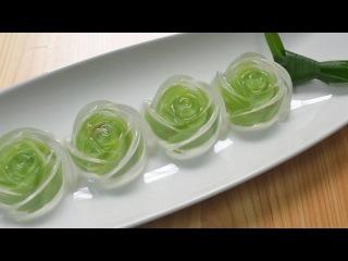 ( https://vk.com/lakomkavk) Cách làm thạch rau câu hoa hồng 2 lớp siêu đẹp