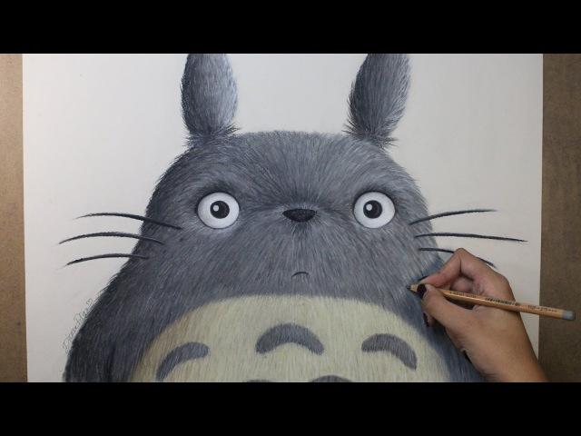 Speed Drawing: Totoro (My Neighbor Totoro | となりのトトロ) | Diana Díaz