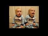 Mom Tries to Teach Talking to Her Twin Babies