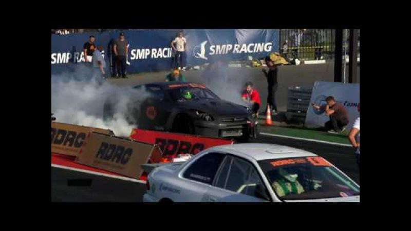 RDRC Stage 4. 1/2 Final. Nissan GT-R vs Subaru Impeza.