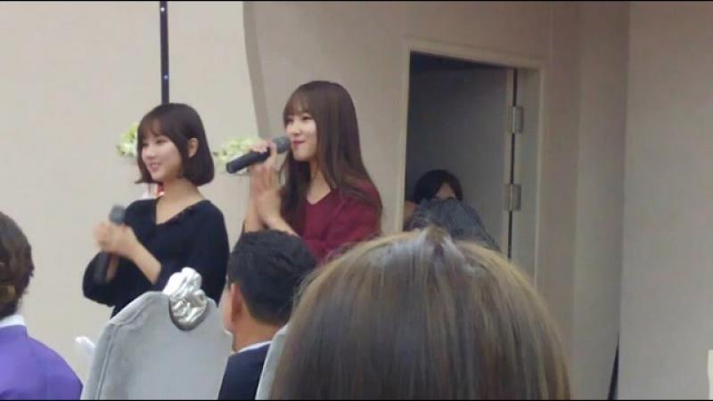 160926 GFRIEND(여자친구) Eunha(은하) Yuju(유주) - Dear Future Husband for the wedding