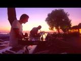Saxophone improvisation at sunset