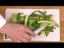 Printanière de légumes verts, maïs crémeux, par Olivier Bellin