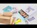 DIY | Estojo kawaii Feito de Papelão