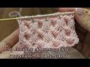 Узор спицами «Имитация кос» с перекинутыми петлями, видео   Knitting patterns Cross-Stitch Cable