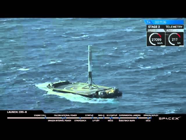 CRS-8 | Launch and Landing Falcon 9 | Запуск и Посадка Falcon 9