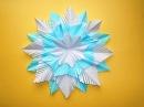 Снежинка из бумаги своими руками. Новогодние поделки для детей