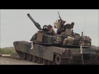Танки Leopard 2A5 и M1A2 Abrams