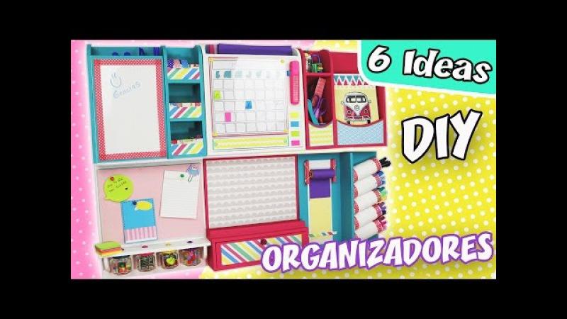 6 IDEAS DE ORGANIZADORES de Escritorio para la PARED - Modulares | Manualidades aPasos