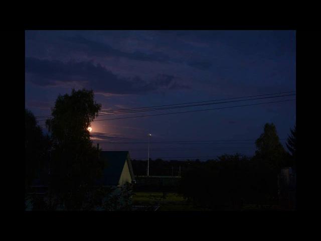 Timelapse, Moonrise | Таймлапс восход луны
