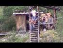 Полёт над Чемальской ГЭС на канатной дороге