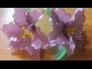 Цветы из лент на резиночке Нежная Лилия