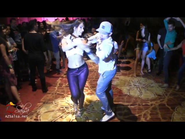 Desirée Guidonet Fernando Sosa social dancing @ Las Vegas Salsa Congress 2016