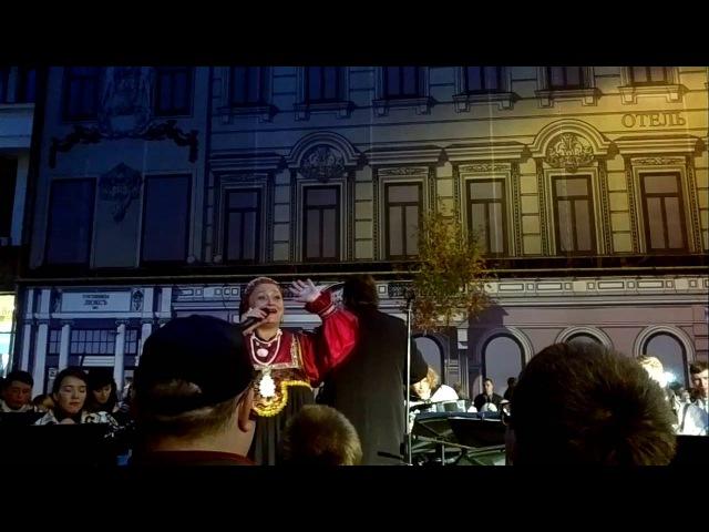 Day of Moscow 2016. Kosak folk song. Nadejda Krygina