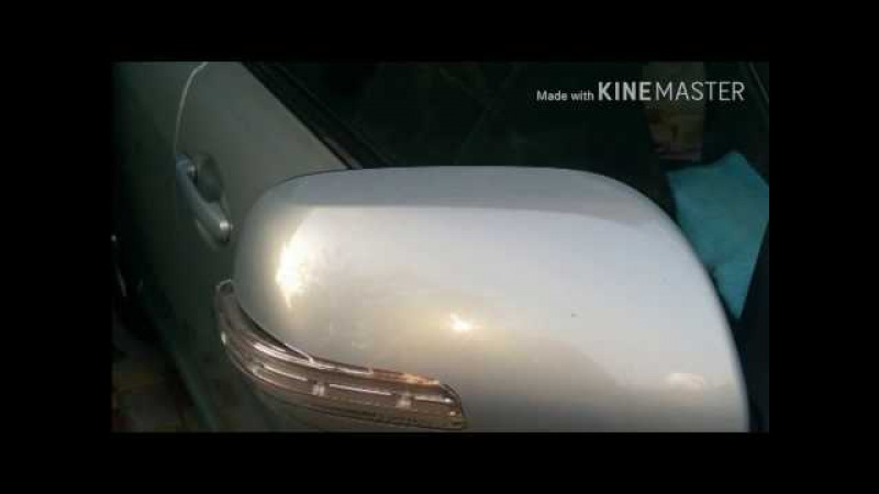 Тойота - зеркало, замена поворотника.(Toyota - mirror, change the indicator)