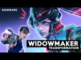 Transforming my MOM into WIDOWMAKER | RossDraws