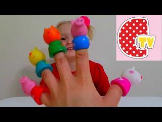 ❤ ПАПА ПАЛЬЧИК СВИНКА ПЕПА СЕМЬЯ ПАЛЬЧИКОВ ❤ Finger Family Song PEPA PIG
