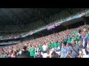 Northern Ireland fans singing Sweet Caroline (GAWA - Euro 2016 - Lyon)