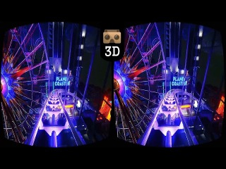 Roller Coaster VR VIDEO 3D SBS 4K [Google Cardboard] Oculus Gear VR Box VIDEO 3D HD 50fps