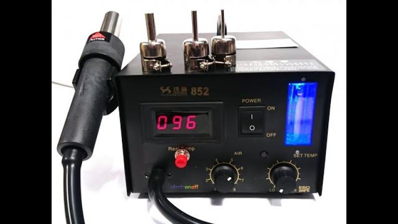 Термовоздушная паяльная станция с феном Hanba 852. Видеообзор от Electronoff.