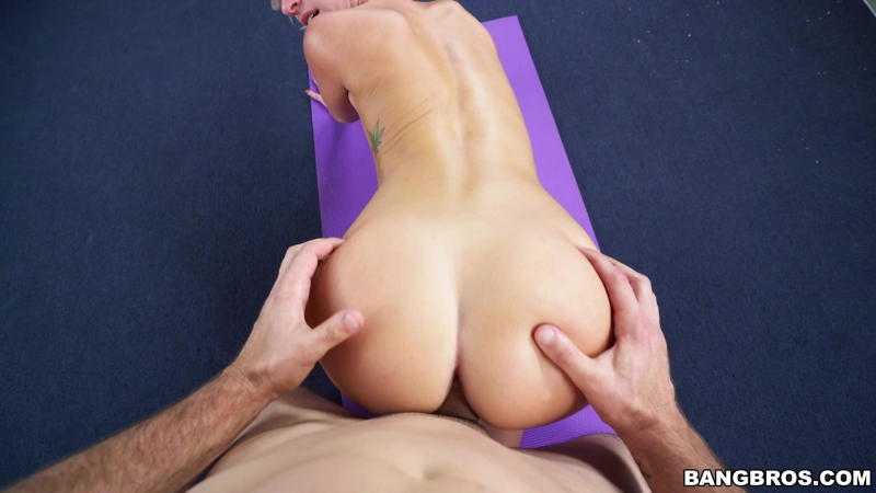 Jada Stevens does yoga 2017. , Big Ass, Big Booty, Blowjob, Brunette, Cum In Mouth, Cum Shot, Deep Throat,