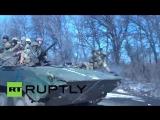 Выход укропов из Дебальцево 17 февраля 2015
