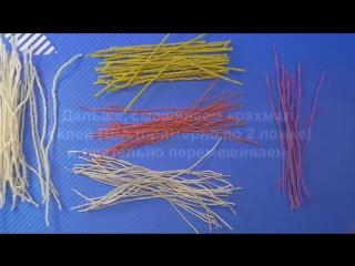 DIY Тычинки для цветов из ниток. Мастер-класс - Stamen for flowers - Tutorial
