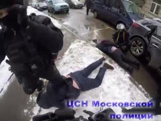 Нежданчик от ЦСН Московской Полиции оперативная съёмка (Камера на шлеме)