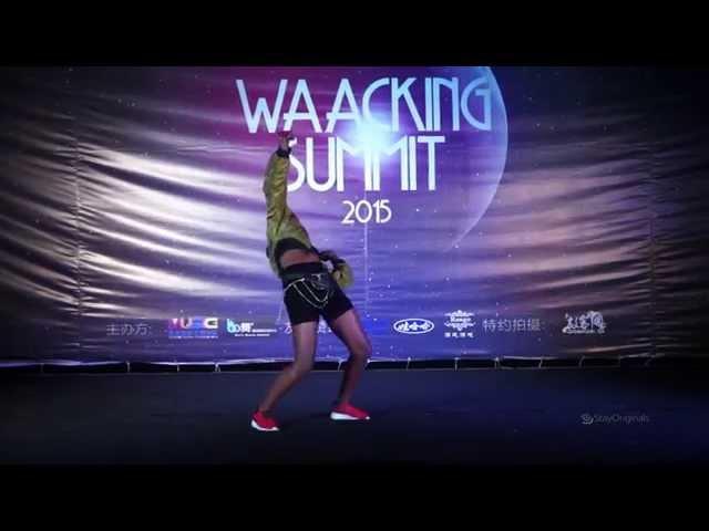 PRINCESS MADOKI Judge Performance Waacking Summit 2015 Xuzhou China