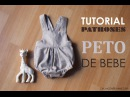 DIY Patrones y tutorial: Peto para bebé
