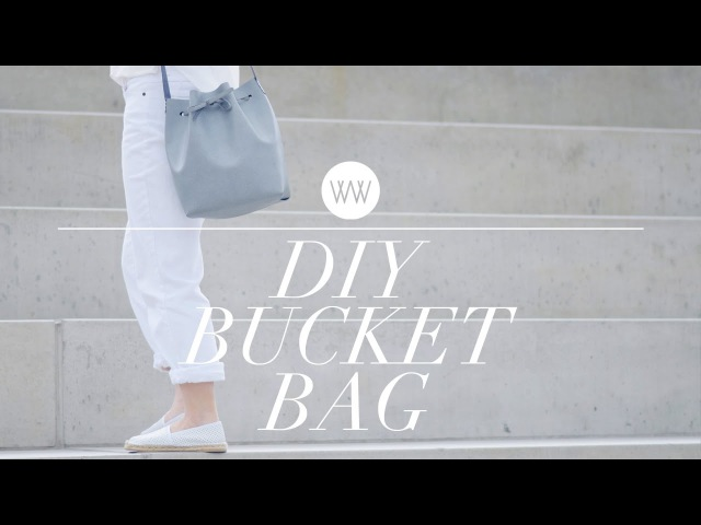 How to Make a Bucket Bag (Mansur Gavriel style) | WITHWENDY