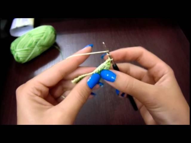 Урок Листочек крючком