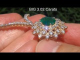 Emerald Necklace GIA Certified Untreated Top Gem Emerald With Solid Gold Setting