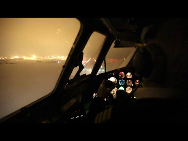 Посадка Ту-154 в Кольцово / Tupolev Tu-154m Landing at USSS (Cockpit view)