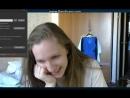 Девушка раздевается на вебку, показала грудь цп, 18+