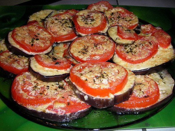 Баклажаны с помидорами с сыром в духовке рецепт пошагово