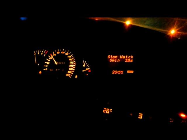 Opel Omega B, X30XE 0-140km/h acceleration