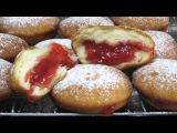 Как приготовить ПОНЧИКИ с начинкой БЕРЛИНЕРЫ пончики LudaEasyCook Cách làm bánhrán donuts