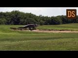 Гигантский аллигатор забрел на поле для гольфа во Флориде РЖЯ