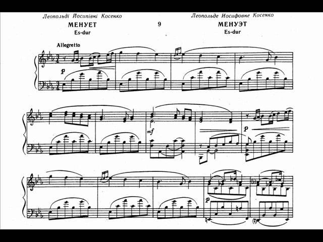 Kosenko 11 Etudes in the form of old dance VII IX