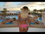 Russian super woman dance in bikini