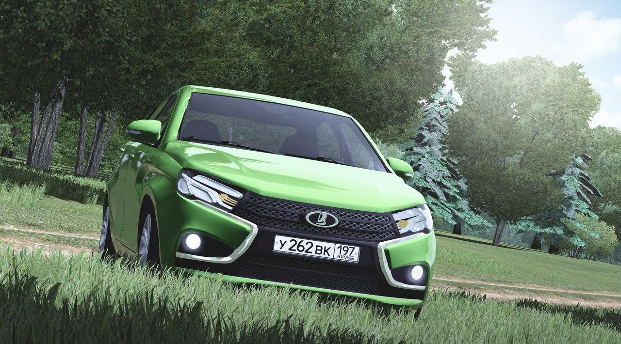Lada Vesta для City Car Driving 1.5.1. - 2